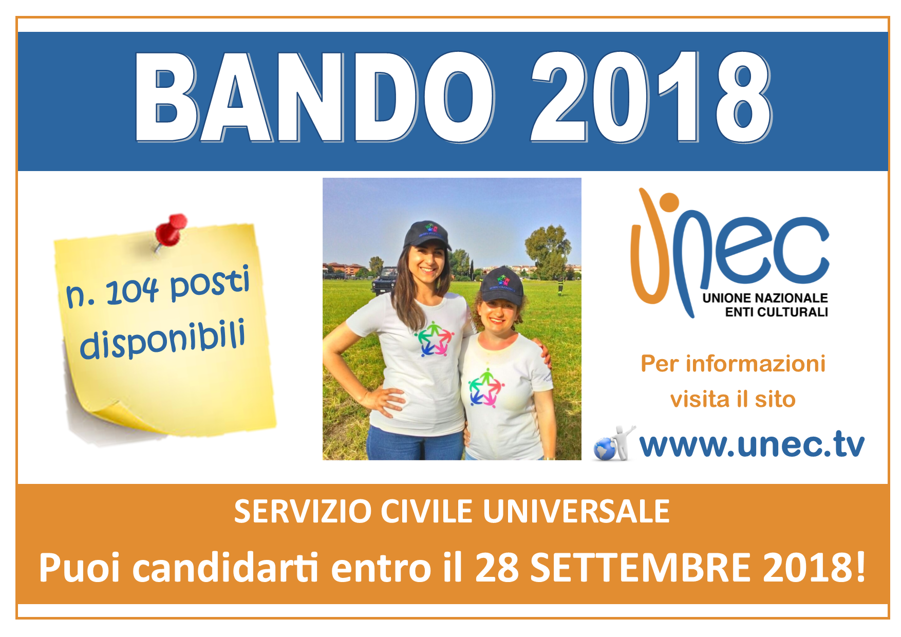 Bando 2018 servizio civile UNEC