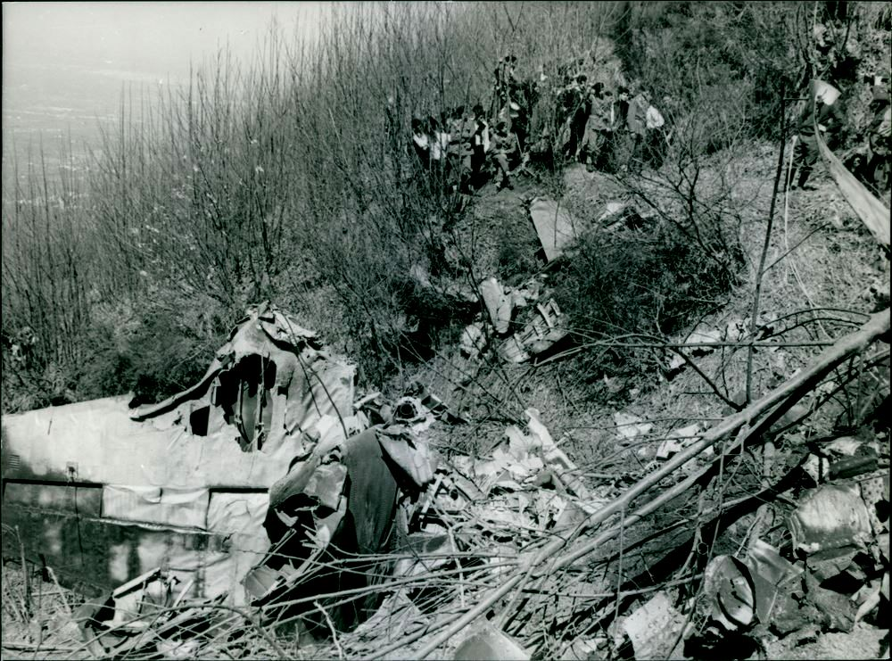 Naples, Italy March 29, 1964 Italian airliner with 45 persons aboard crashed on Mount Vesuvius.
