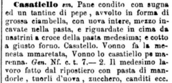 ricetta del Casatiello 1837