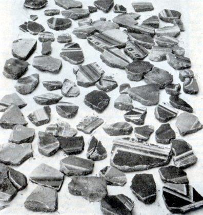 frammenti di intonaco dipinto