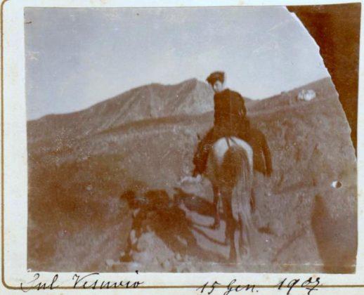una gita al vesuvio il 15 gennaio 1907